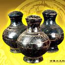 漆衣彩繪陶壺